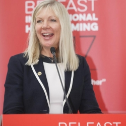 Belfast Homecoming 2017, The Drawing offices, Titanic Hotel. Suzanne Wylir CEO, BCC