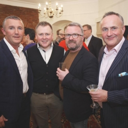 Belfast Homecoming 2017, Reception with US Consul General Dan Lawton, Tony Donnelly, Gerry Carlisle, Jim Donnelly and Declan Donnelly