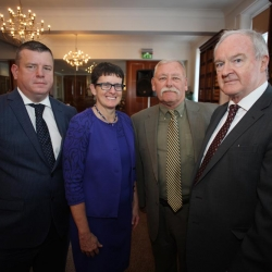 Legal Symposium, Belfast International Homecoming 2017, Nial Murphy with Maureen Bennett, Rick O'Meara and Lord Chief Justice Declan Morgan