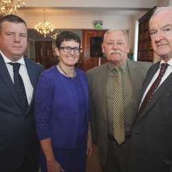 Legal Symposium 2017, The Inn of Court, Royal Courts Of Justice, Belfast, Nial Murphy with Maureen Bennett, Richard Michael O'Meara and Sir Declan Morgan Lord Chief Justice
