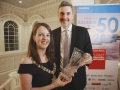 Mayor of Belfast Cllr Nuala McAllister with Recipient of the Spirit of the Diaspora Award Chris Cailwell
